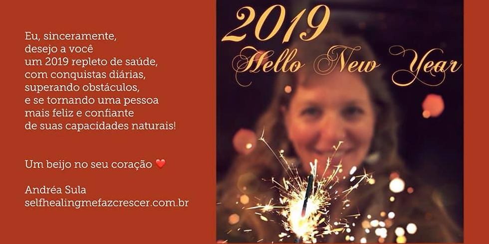 A Instrutora Andréa Sula lhe deseja em 2019...