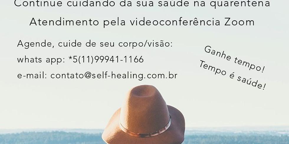 Teleconsulta com a instrutora e terapeuta Márcia Alves de Siqueira
