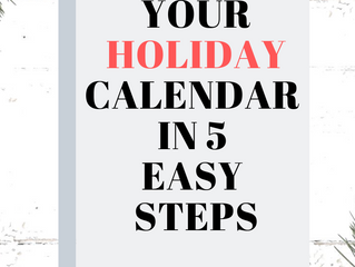 How to Conquer Your Holiday Calendar