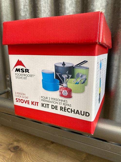 MSR Pocketrocket Stove Kit/ 2 person cook & eat