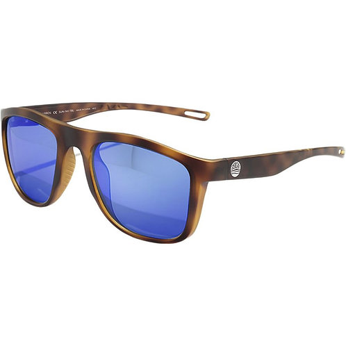 Sunski Navarro Polarized Sunglasses Tortoise Blue