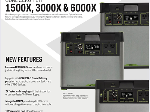 Goal Zero 3000X email for pre-orders