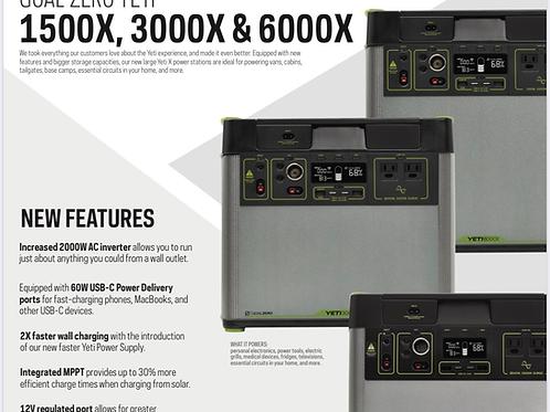 Goal Zero Yeti 1500X email for pre-orders