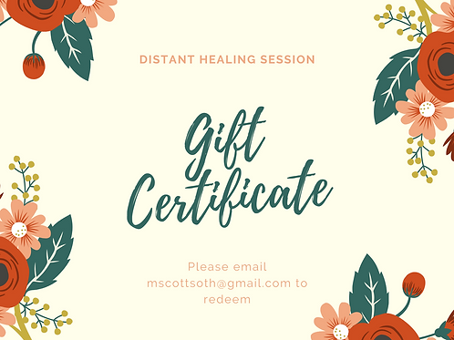 Gift Card for Distant Healing