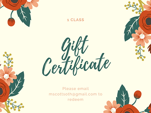 Gift Card for 1 Class