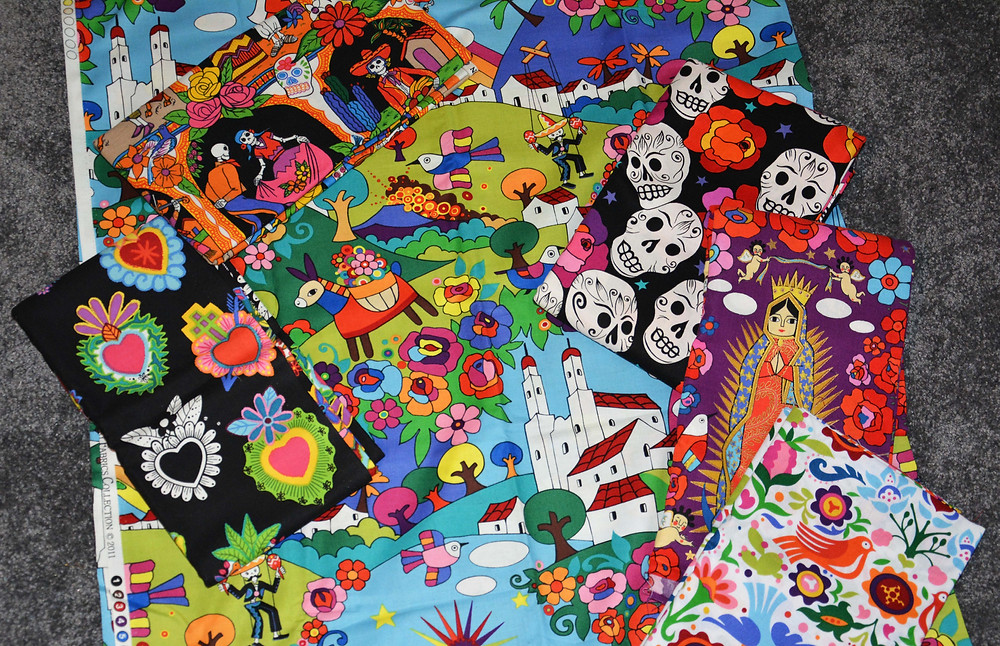 Folklorio/Day of the Dead Fabric