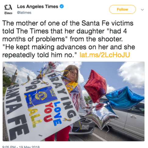 School Shooter's First Victim Rejected Him. And People Are Furious at How LA Times Broke This News
