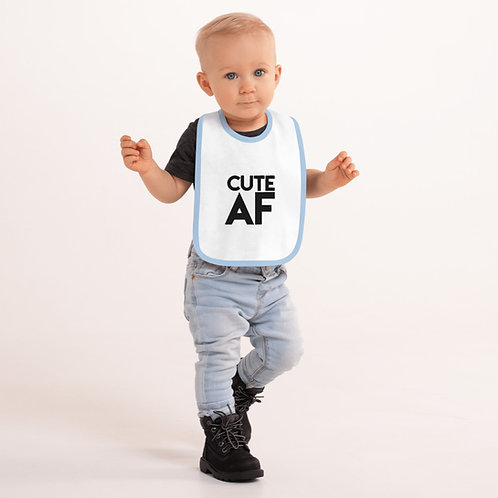 Cute AF Embroidered Baby Bib