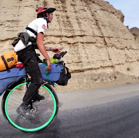 Unicyclist Completes Round-The-World Trip... for Charity