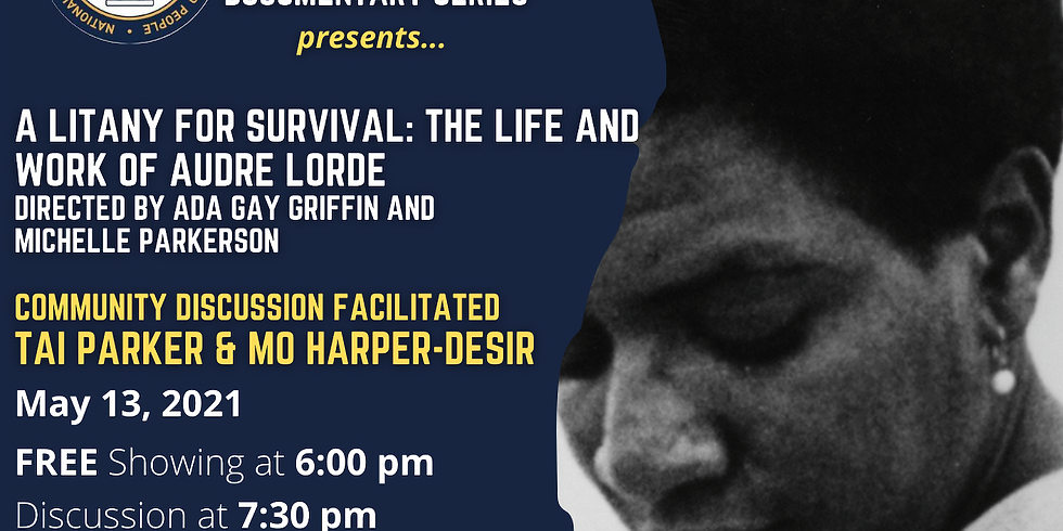 A Litany For Survival: The Life & Work of Audre Lorde