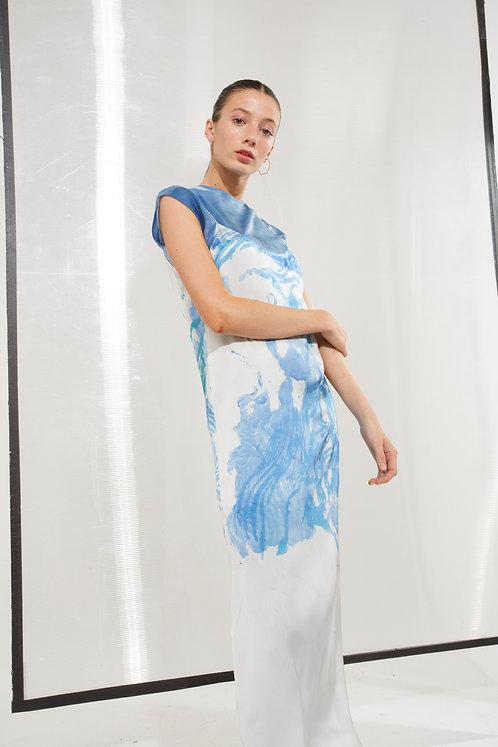 Justa Dress Aqua