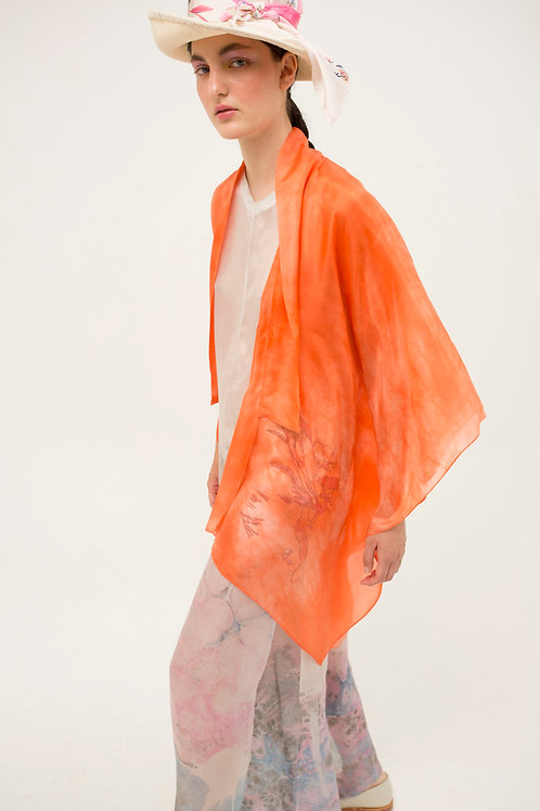 Poncho Shirt Orange