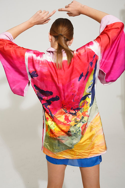 Short Kimono FOC Pink Landscape