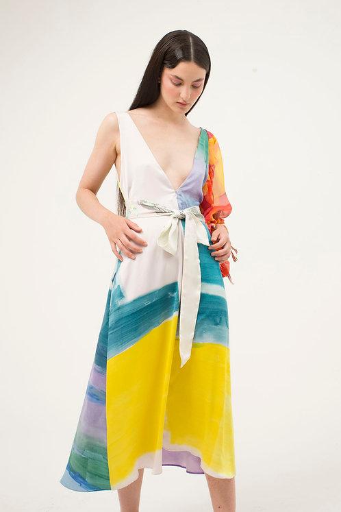 Midi Bies V Dress Kitsune