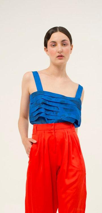 Silk Tank Top Blue