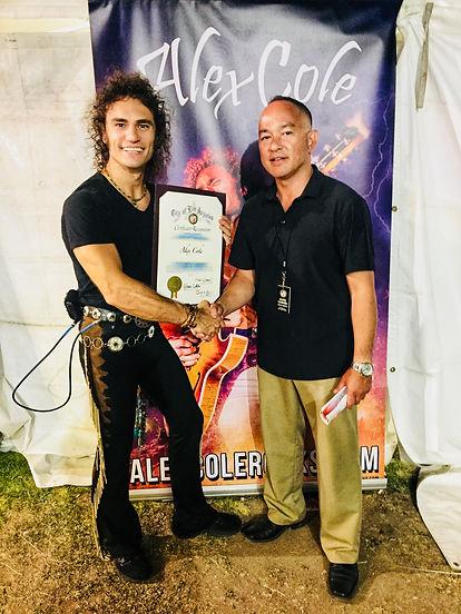 Alex Cole Lotus Festival Cerificate of R