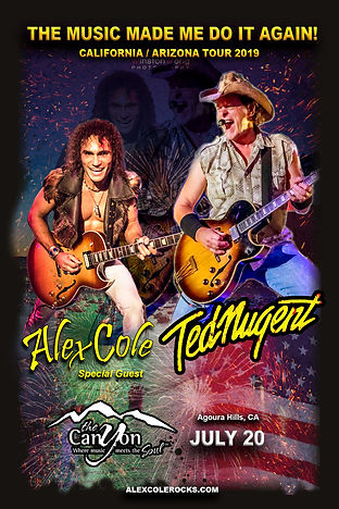 Alex Cole Ted Nugent The Canyon Agoura H