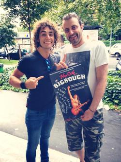 With fan Richard