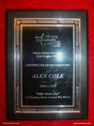 Alex Cole Award