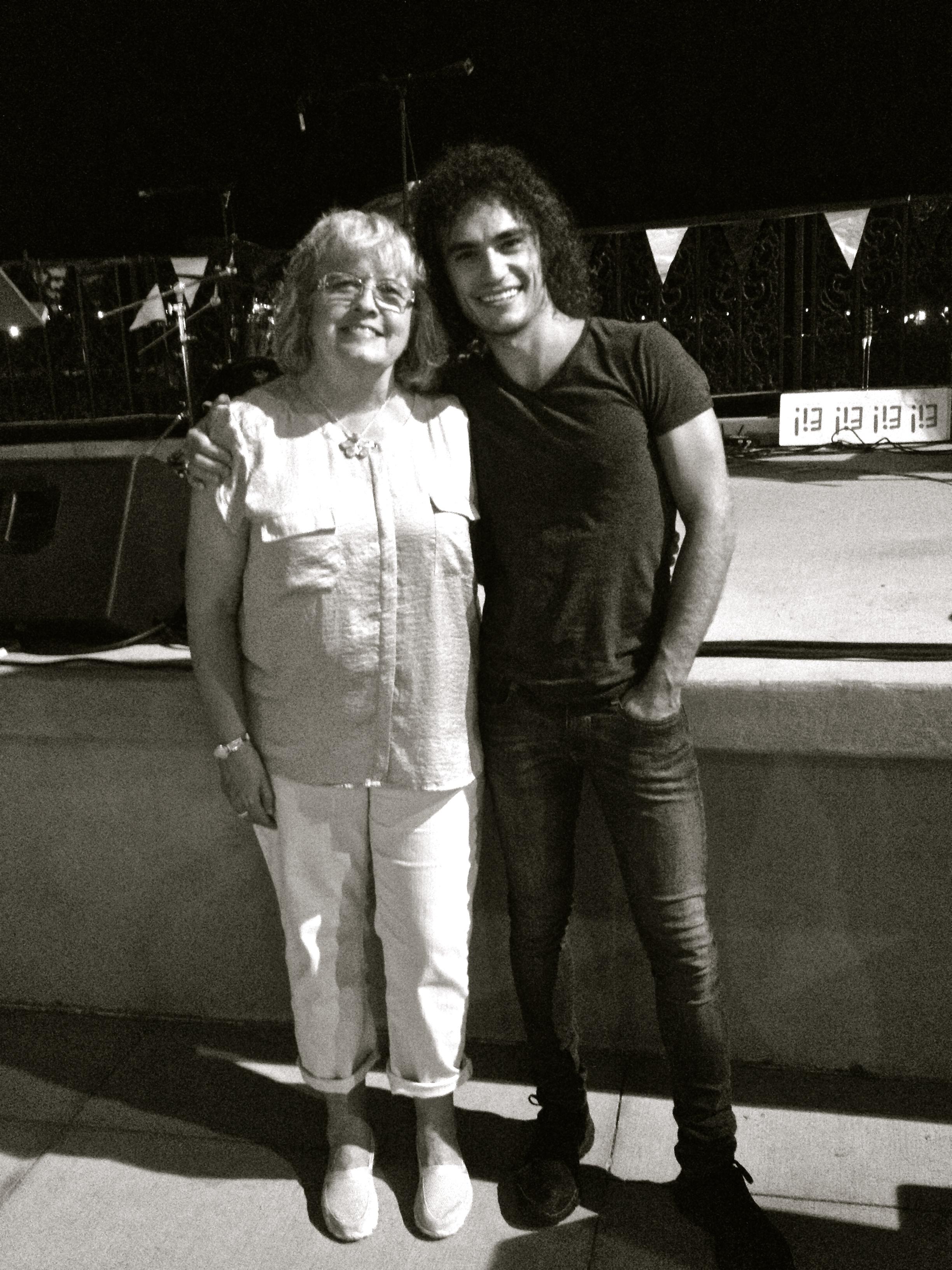 With Debbie Bibbs