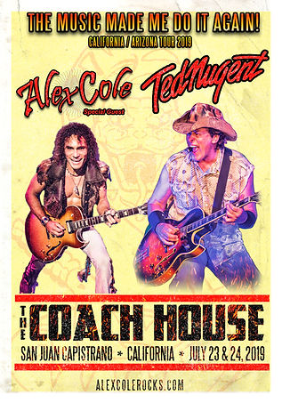 Alex Cole Ted Nugent Coach House flyer.j