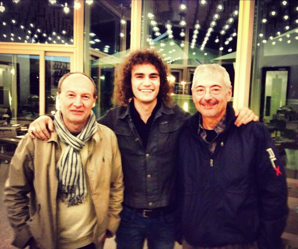 With Claudio Bazzari & Chicco Santulli (Producers)