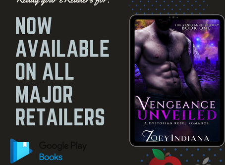 Vengeance Unveiled is now on all major retailers!