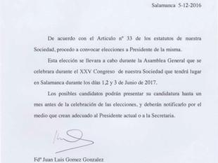 Elección de Presidente/a de la Sociedad ORL de Castilla y León, Cantabria y La Rioja