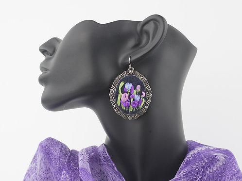 Irises on Black