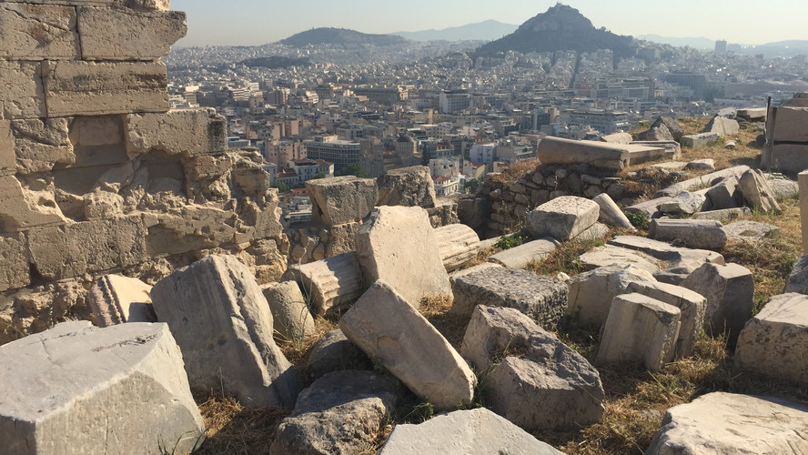 View above Athens