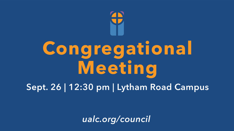2021 September Congregational Meeting