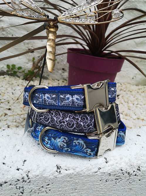 """Dog Collars for the boy's, choice of two. 16"""" - 22, 17"""" - 25"""""""