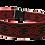 "Thumbnail: Red Celtic Woven Jacquard Ribbon on 1 1/2"" (38mm) Red Webbing"