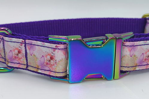 "Glam Butterflies Dog Collar Sizes 13"" - 18"" & 13"" - 17"""