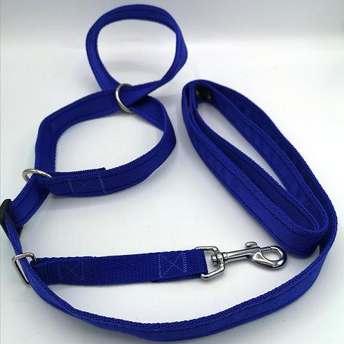 """Figure 8 Head Collar/Halter, 25mm (1"""") Wide Soft Cushion Webbing. For XL dog."""