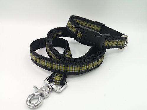 "Cornish National Tartan Collars & Leads 1"" Wide Black Webbing"