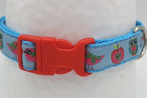"Little Birds Dog Collar 19mm Webbing 12"" - 18"""