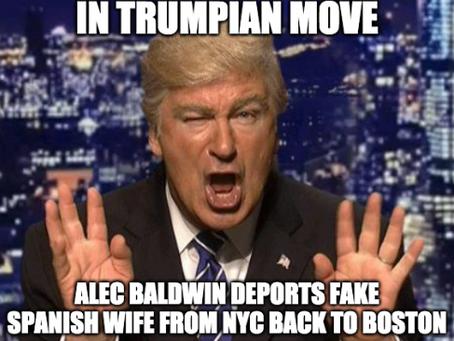 In Trumpian Move, Alec Baldwin Deports Fake Spanish Wife from NYC Back to Boston