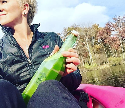 Sharing a little green drink love💚while