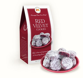 Mississippi Cheese Straw Factory; Red Velvet Cookies 3.5 oz