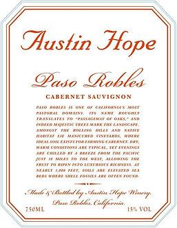 2018 Austin Hope Paso Robles Cabernet Sauvignon