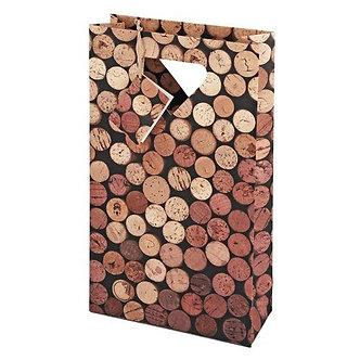 Corks: 2 Bottle Wine Gift Bag