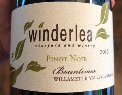 Winderlea Bounteous Pinot Noir