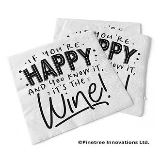 """""""If you're happy and you know it"""" Beverage Napkins"""