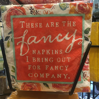 """These are the fancy napkins I bring out for fancy company."""