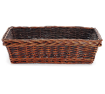"Extra Large Basket 20"" Willow Rectangle Dark"