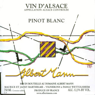2018 Albert Mann Pinot Blanc Vin d'Alsace