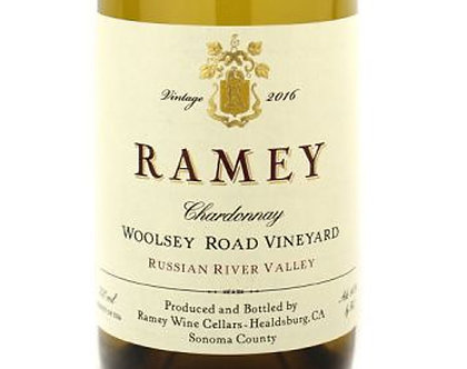 """2016 Ramey Cellars """"Woolsey Road"""" Russian River Valley Chardonnay"""