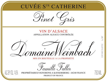 2018 Domaine Weinbach Pinot Gris Cuvee Ste Catherine Vin D'Alsace