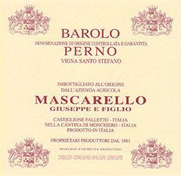 "2014 Mascarello ""Perno"" Vigna Santo Stefano Barolo"